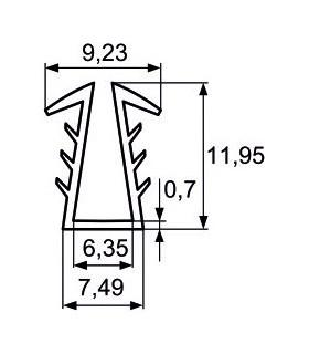 meter Giant CR-G16 2,0m stáčací pogumovaný