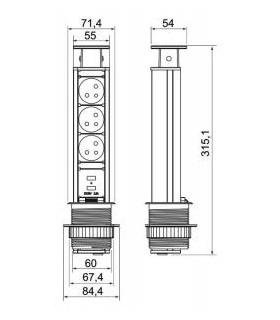 mrieža Koner S80 115x290 mm, G080, bal