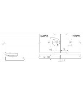 Sada bitov CT041490 • 11 dielna, Cr-V