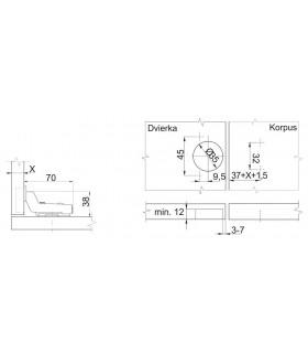 sada kľúč KF0441-0212 08dielna,Hex,sklápacia, TRX