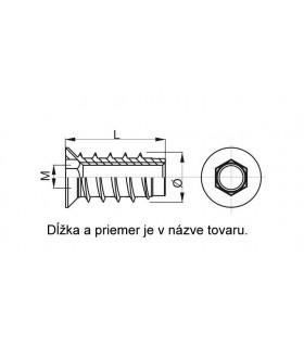 Matica M8 DIN 934 /8/ Zn